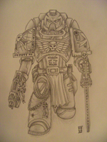Space Marine - Black Templar by FantasyAndSFFan