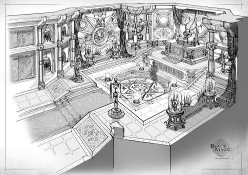black magician's training room by Elle-Shengxuan-Shi
