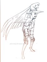Quick sketch winged scarecrow year one by pink-ninja