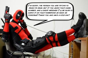Hello! This is Deadpool speaking by SnuffBomb