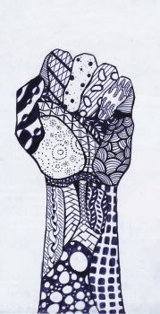 Zentangle - Fist by AwakeNDreaming