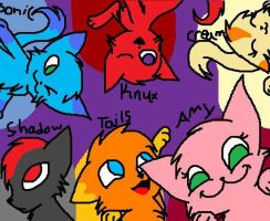 sonic peeps as cats by LpsDreamer01