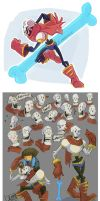 Undertale- Papyrus doodles by MadJesters1