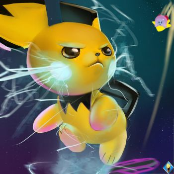 Super Seriously Serious Pichu by SuperSaiyan3Scooby
