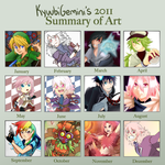 KyuubiGemini's 2011 Art Summary by Kanokawa