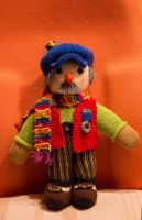 Hand knitted doll Grand Pa by Supach