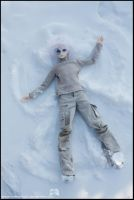 Snow angel making by Angie-Chan070707