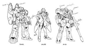 Our Second Mecha Concept For Star Crossed by PSBookkeeper