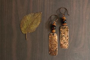 Copper earrings by Schepotkina