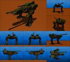 WCV-75 Lion Combat Mech by Raven-Gold