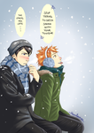 Kagehina - Snow by Hanatsuki89