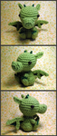 Crochet chibi dragon by theCuddlyCephalopod
