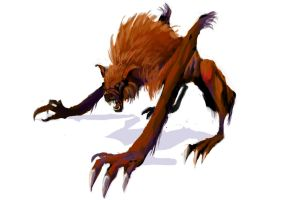 Quadruped werewolf-variant by MadMosquito