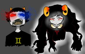 Sollux and Aradia by ARLYXD