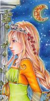 Commission 21 Princess Bookmark by Anako-Kitsune