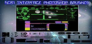 sci-fi interface brush pack by cheekysneeky