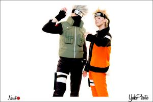 Kakashi and Naruto Cosplay 1 by YukiSumah