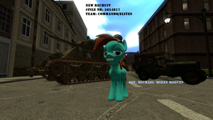 New Recruit Sgt. Mikey Hooves by Miel1994