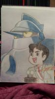 Gigantor and Jimmy (Color pencil) by Superapplesauce521