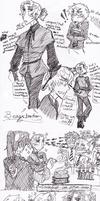 Hetalia Potter sketches by spock-sickle