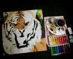 Tiger Painting WIP by turanneth