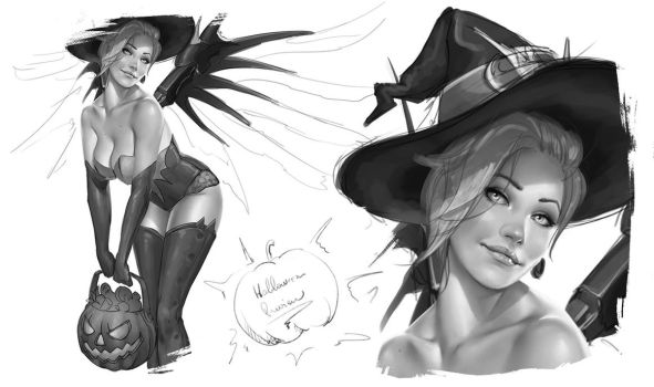 Halloween Pin-up Preview by krysdecker