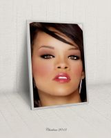 Rihanna(Drawing And Painting) by chamirra