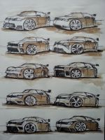 Car sketches by VladBucur
