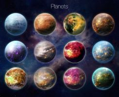 Planets by Keleus