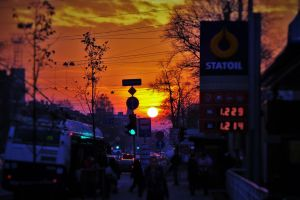 view from bus stop at my home by LMNts