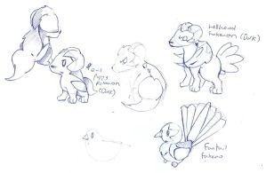 Some Fakemon concepts by foliap
