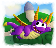 Spyro the dragon by Toxicoow