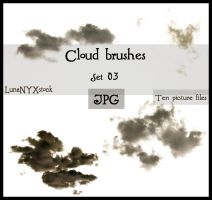 Cloud brushes - set 03 - JPG by LunaNYXstock