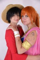 Nami Alabasta Cosplay with Luffy by Lucy-chan90
