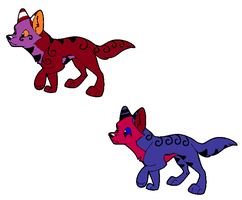 Pups for 1Fenrir1 by Theo-and-Clara