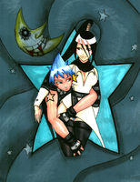 Black Star and Tsubaki by ariisinapickle
