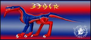 Blue-Red Beau Dragon by Dragon-Lady