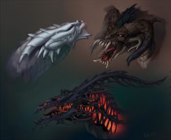 Dragons by Kahito-Slydeft