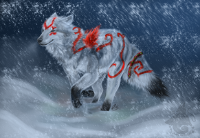 Sahera in the Snow by animalartist16