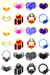 The cute icons of heart jewels by atelier-bw