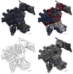 Optimus Prime Variations by azunder