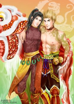 Dynasty Warriors-Gan and Lin by snowhaven