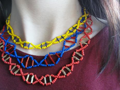 Orphan Black DNA helix necklace by Rapt0rGirl
