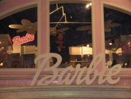 Boy in Barbie House by kaitykrakz