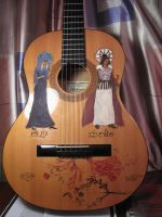 Guitar: Nienna and Melkor by LorianGrace