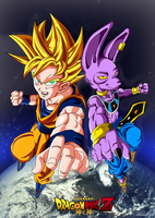 Dragonball Z - Goku Vs Bills con Fondo! by TriiGuN