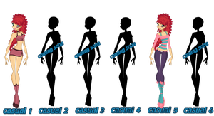 Una Casual Sets S1- S6 (witch) by WinxFandom