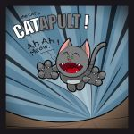 The Cat in CATAPULT by Satanisapunk