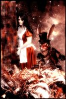 Alice and the White Rabbit by thistlephotography
