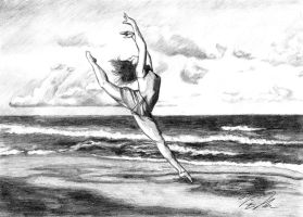 Beach Ballet by Victomah